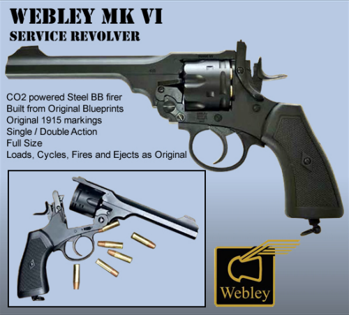 REVOLVER WEBLEY MK VI CO2 4,5mm