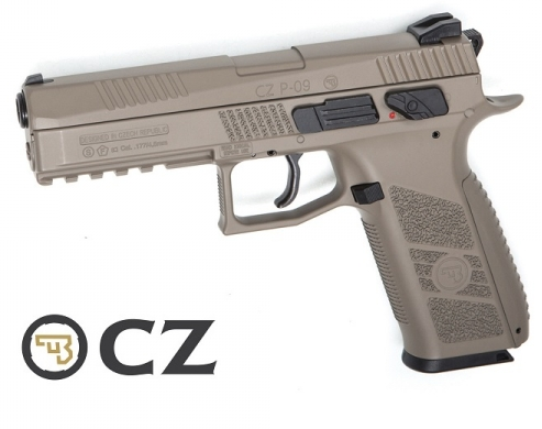 CZ P-09 Duty FDE Blowback - 4,5 mm Co2 BB's / Balines