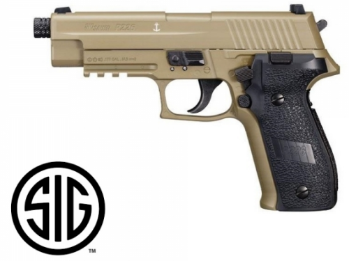 Sig Sauer P226 FDE Blowback CO2 - 4,5 mm BB's Acero / Balines
