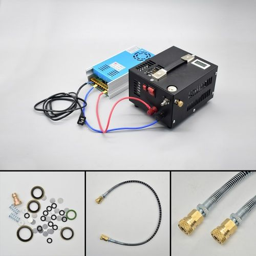 Compresor Electrico 12v/220v para PCP 300 Bar. 1000cc. OUT OF STOCK